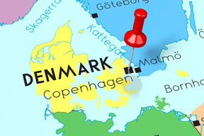 location of Copenhagen, capital of Denmark