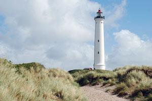 lighthouse on the western coast of Jutland